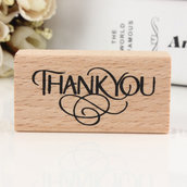 "Timbro in legno gomma ""Thank you"""