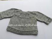 Maglia coprifasce neonato / neonata  in pura lana merinos