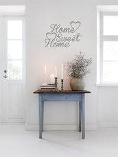 Adesivo Home Sweet Home con cuori