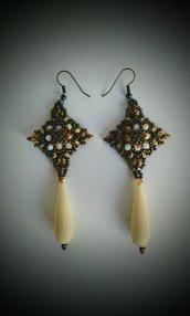 Orecchini pendenti color bronzo