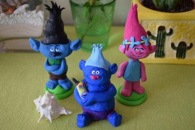 Trolls Branch Biggie e Poppy in Fimo