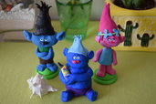 Trolls Branch Biggie e Poppy in Fimo