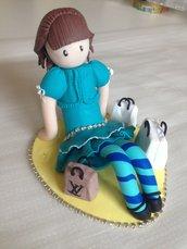 Bambolina stilizzata in fimo