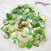 Fila 40 cm. rombi di madreperla verde