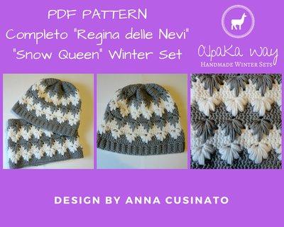 SCHEMA completo donna uncinetto // Schema berretto e scaldacollo // Pattern completo invernale // Pattern con foto uncinetto
