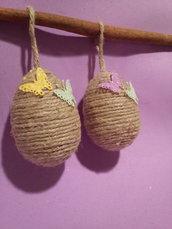 Uova decorative in corda