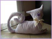 Gatto fermaporta violet