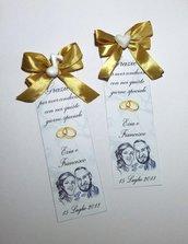 50 pezzi Segnalibro matrimonio nozze bomboniera gadget con caricatura sposi