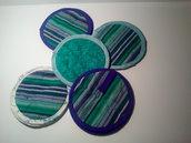 """Presine patchwork """"Cucina in blu e verde"""""""