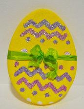 Uovo giallo grande h cm 48