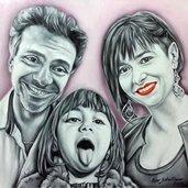 Ritratti su commissione da foto olio su tela Ritratti da foto Realistico Dipinto