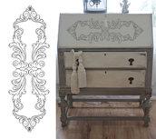 """Adesivo """"barocco disegnato a mano"""" per mobili shabby"""