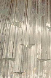 Triedri , ricambi per lampadari di Venini, con pezzi rotti, in vetro, color trasparente, lunghezza 28 cm, 10 cm e personalizzabile, base con taglio a 90 gradi o 45 gradi
