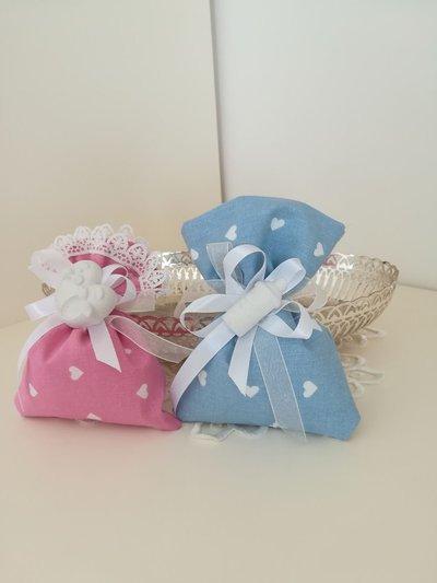 Sacchetti porta confetti con gessetto