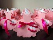 Scatolina porta confetti segnaposto cresima comunione battesimo nascita matrimonio vestitino ballerina balletto danza