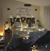 Adesivo shabby Bonne Nuit per camera da letto