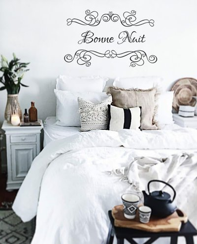 Adesivo shabby Bonne Nuit per camera da letto - Per la casa e per t ...