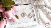 Orecchini in tessitura di perline