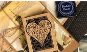 timbri in legno e gomma disegno cuore stilizzato