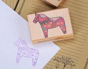 Timbri in legno e gomma disegno cavallino