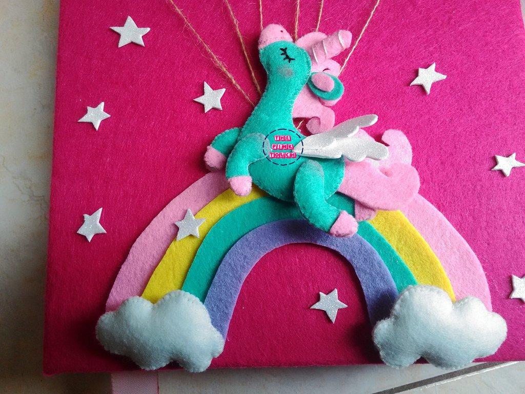 Album porta foto Bimba unicorno nascita compleanno