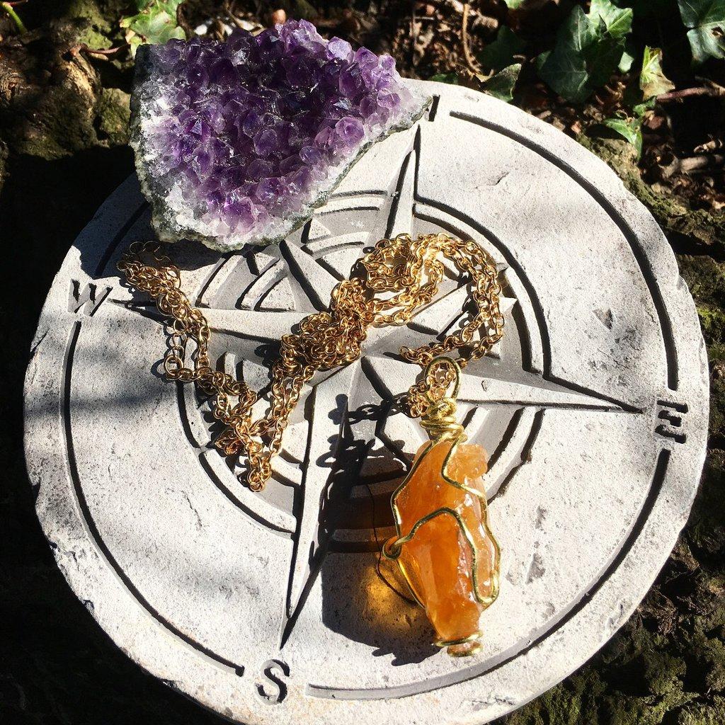 Calcite arancione Pendolo Magic Healing
