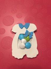 Portaconfetti bomboniera nascita/battesimo