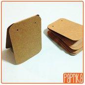 30 espositori pieghevoli per orecchini in cartoncino 5x7cm