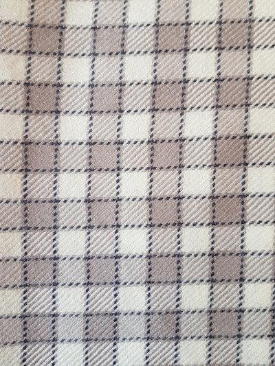 Tartan originale in pura lana,taglio di tessuto 1 metro alto 150 cm, beige  e grigio