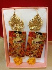 Orecchini pendenti Adele di Klimt