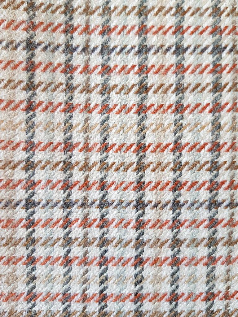 Tartan originale in pura lana,taglio di tessuto 1 metro alto 140 cm, beige  grigio marrone azzurro