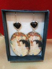 Orecchini pendenti maternità di Klimt