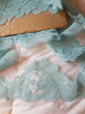 Pizzo vintage azzurro alto 9 cm 5 metri ,materiali cucito,bordura in pizzo