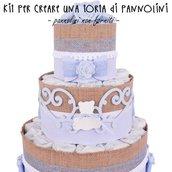 Kit per creare una torta di pannolini per bambino