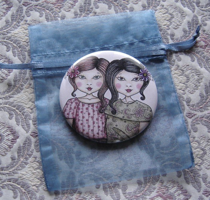SPECCHIETTO-Sisters-pocket mirror 2.25 inch (5.6cm)