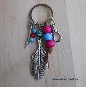 Portachiavi piuma e freccia nativi americani