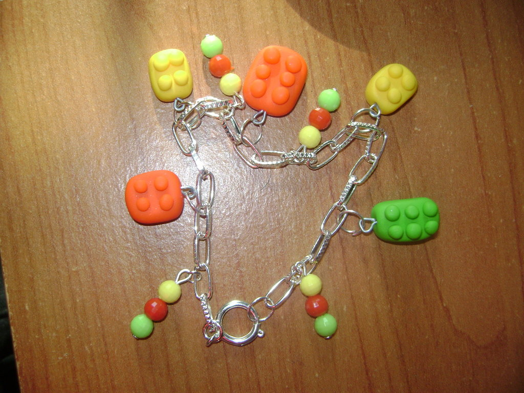 bracciale lego in fimo
