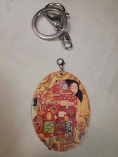 Portachiavi ciondolo abbraccio di Klimt