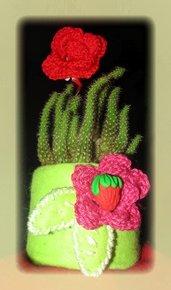 Portavaso - feltro,crochet 'n color -