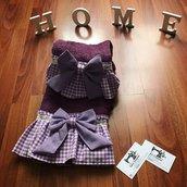 Asciugamani 1+1 color viola