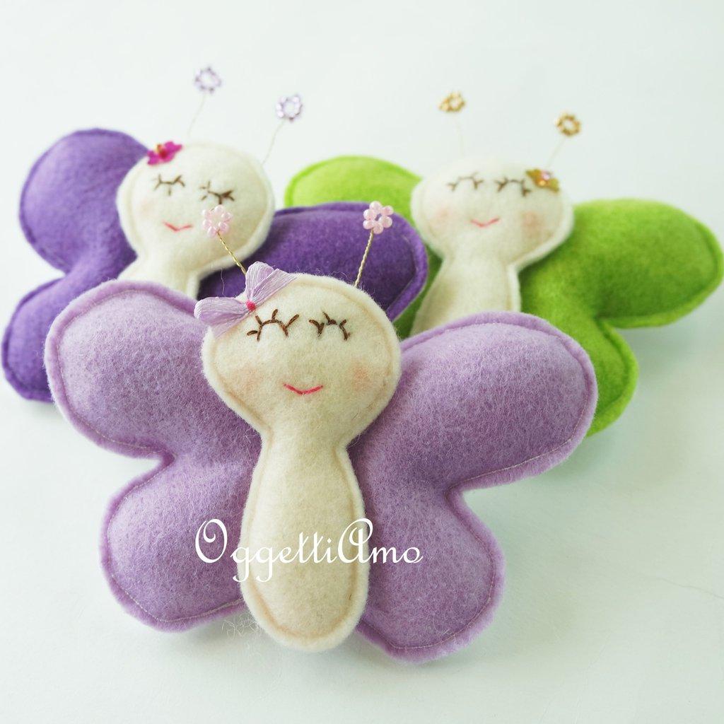 3 graziose farfalle come idea regalo: tre calamite per decorare il frigorifero in modo originale!