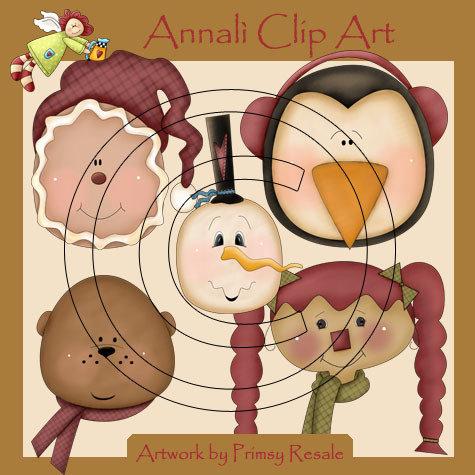Copriti, fà freddo! - Natale - Inverno - Clip Art per Scrapbooking, Decoupage e non solo - Immagini