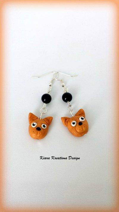 Orecchini in fimo cani chihuahua, kawaii, miniature, idee regalo compleanno, regalo natale, regalo appassionati di cani, gioielli chihuahua