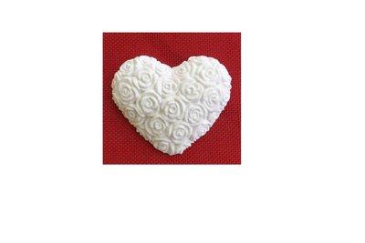 Gessetto Cuore in gesso ceramico per bomboniere