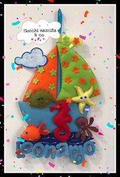 Fiocco nascita sweet sea