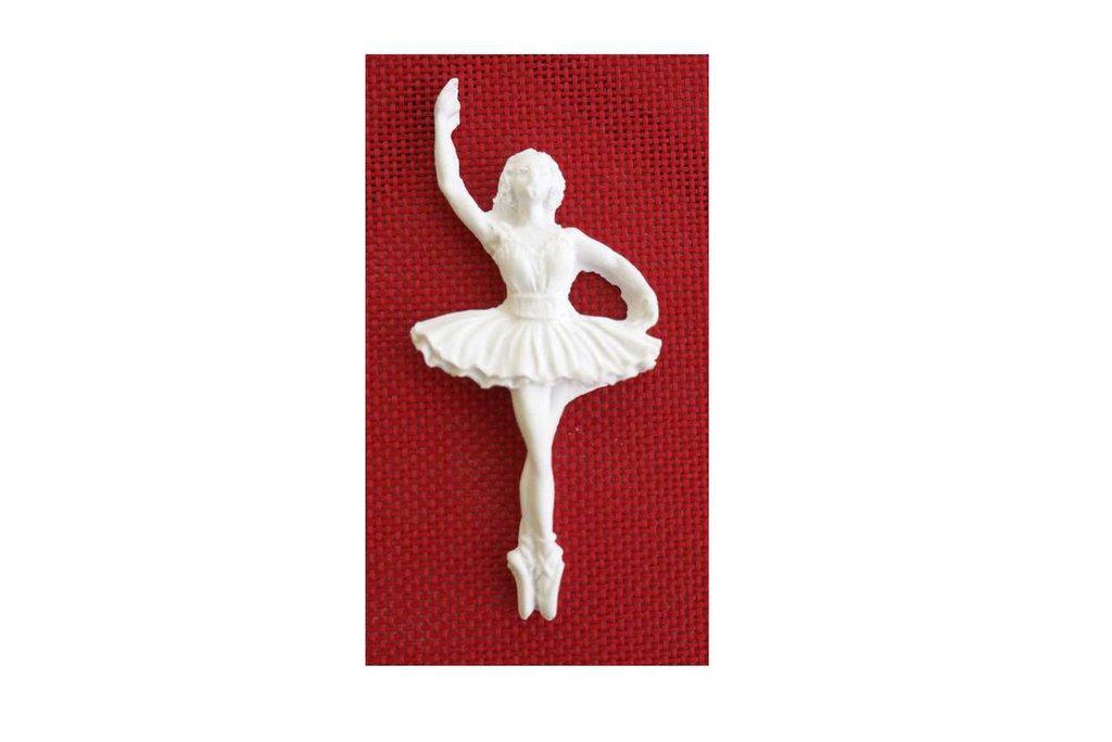 Gessetto Ballerina in gesso ceramico per bomboniere