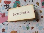 Bigliettini Cresima confetti rettangolari cartoncino avorio
