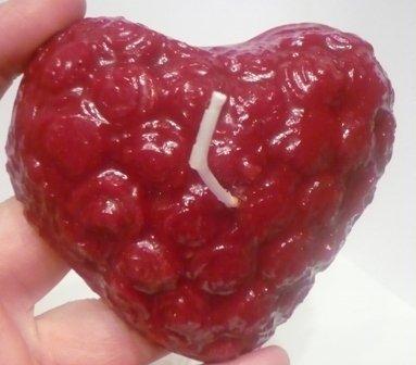 Candela cuore fiorito