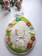 Uovo di Pasqua in feltro da appendere e riempire