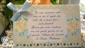 Invito di Ringraziamento da tavolo per Battesimo